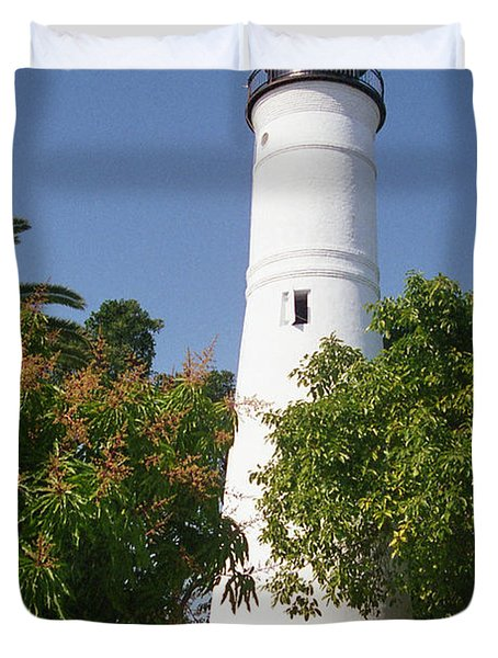 Key West Lighthouse Duvet Cover