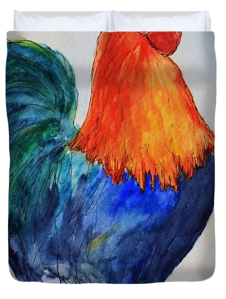 Key West Rooster Duvet Cover
