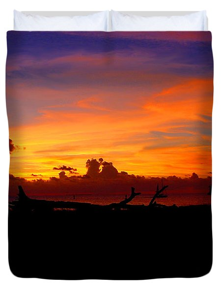 Key West Sun Set Duvet Cover