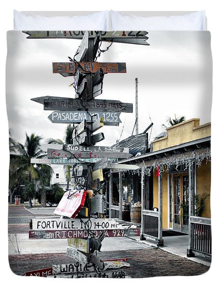 Key West Wharf Duvet Cover