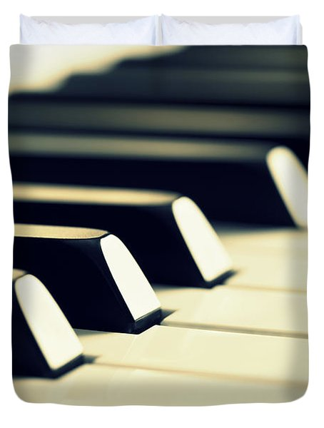 Keyboard Of A Piano Duvet Cover