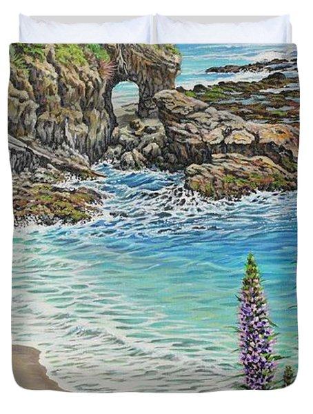 Keyhole Rock Laguna Duvet Cover