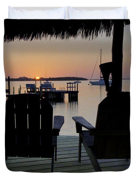 Keys Sunset Iv Duvet Cover by Bruce Bain