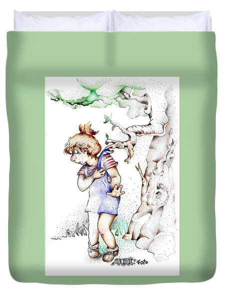 Trail Blazing Edition Kidnabbed 2 Foto Duvet Cover