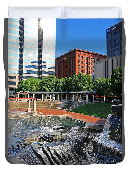 Kiener Plaza Morning Duvet Cover