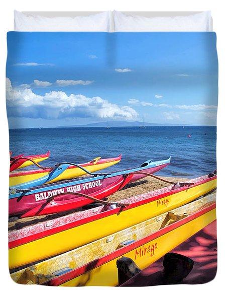 Duvet Cover featuring the photograph Kihei Canoe Club 6 by Dawn Eshelman