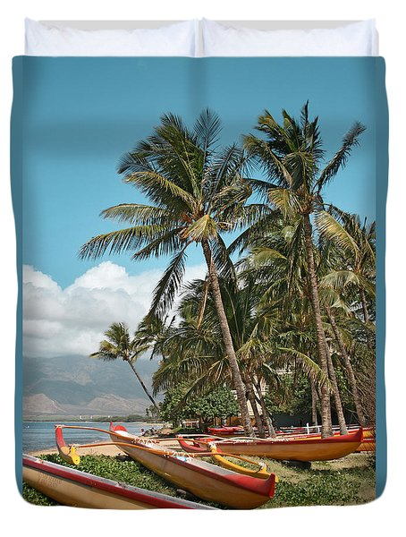 Duvet Cover featuring the photograph Sugar Beach Kihei Maui Hawaii by Sharon Mau
