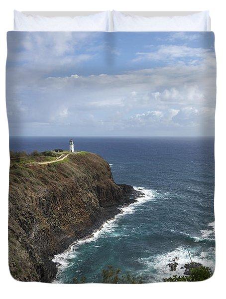 Kilauea Lighthouse - Kauai Hawaii Duvet Cover by Brian Harig