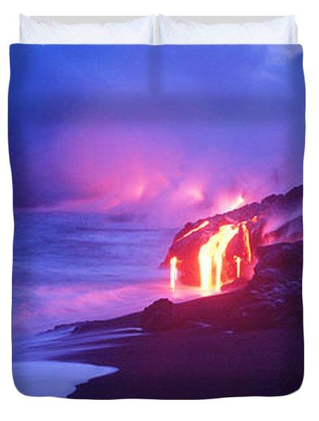 Kilauea Volcano, Hawaii, Usa Duvet Cover