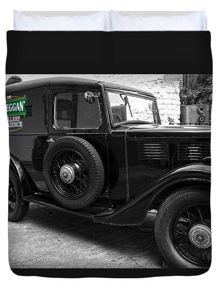 Kilbeggan Distillery's Old Car Duvet Cover