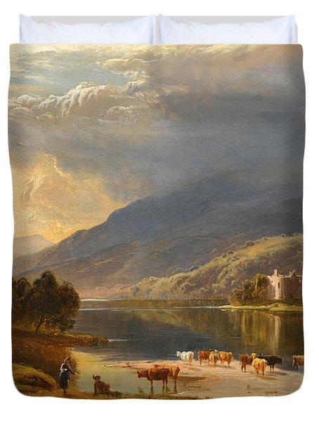 Kilchurn Castle. Loch Awe Duvet Cover