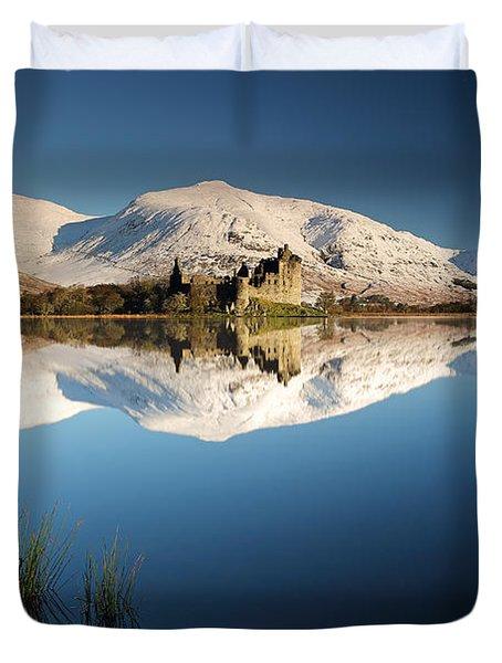 Kilchurn Castle Reflection Duvet Cover