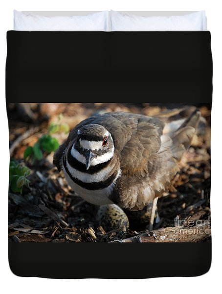 Killdeer Mom Duvet Cover