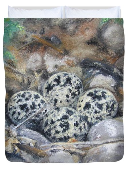 Killdeer Nest Duvet Cover