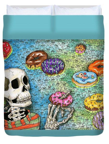 killer Donuts Duvet Cover