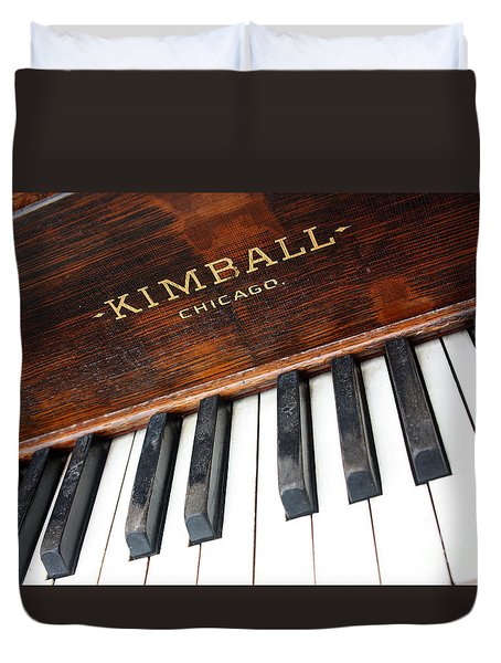 Kimball Piano-3479 Duvet Cover by Gary Gingrich Galleries
