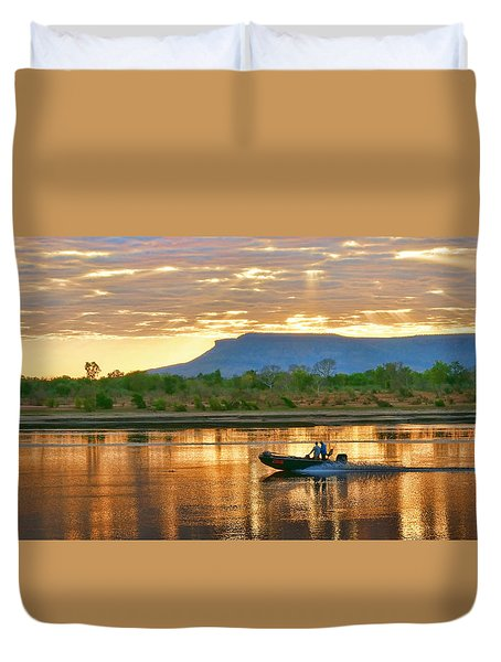 Duvet Cover featuring the photograph Kimberley Dawning by Holly Kempe
