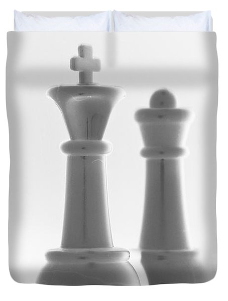 King And Queen In Pure White Duvet Cover by Rob Hans
