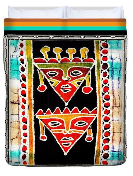 Duvet Cover featuring the digital art King And Queen by Vagabond Folk Art - Virginia Vivier