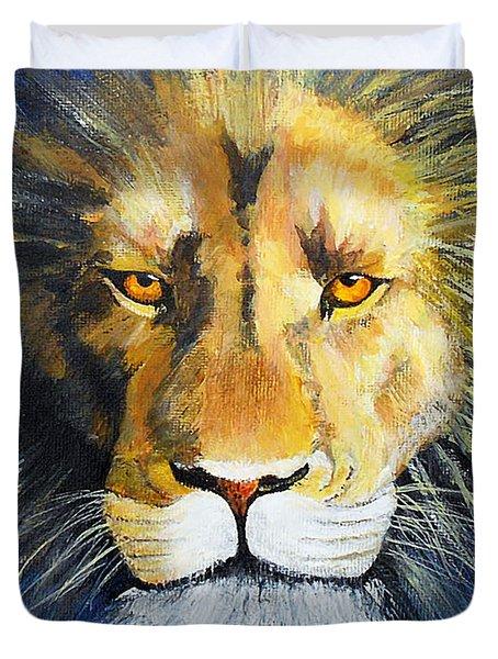 King Cat Duvet Cover by Jamie Frier
