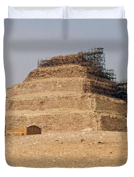 King Djoser The Great Of Saqqara Duvet Cover