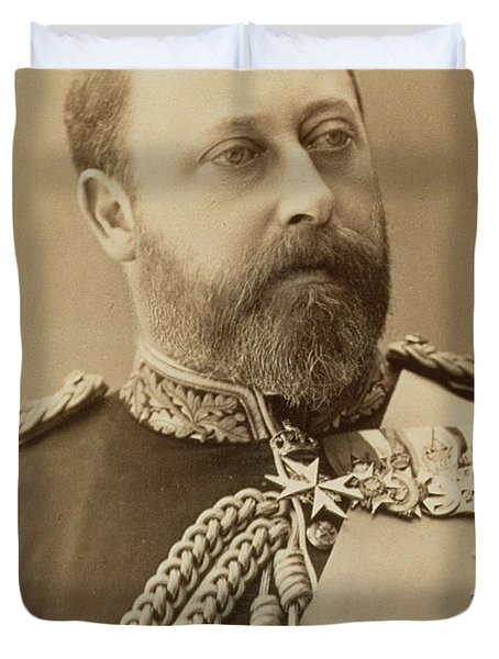 King Edward Vii  Duvet Cover by Stanislaus Walery