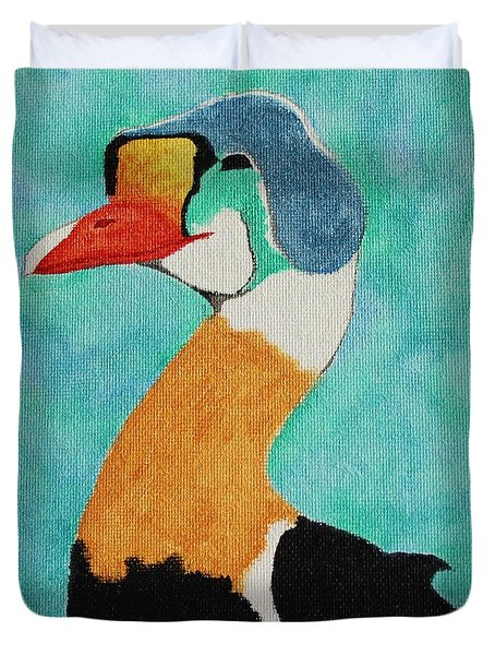 King Eider Duvet Cover by Amy Gallagher