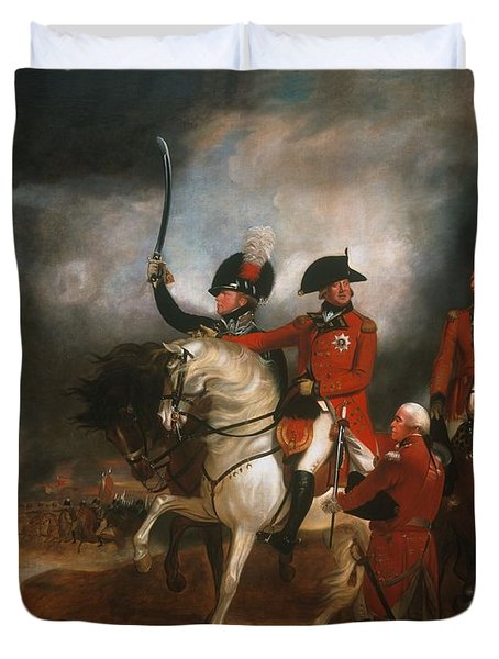 King George IIi And The Prince Of Wales Duvet Cover by Sir William Beechey