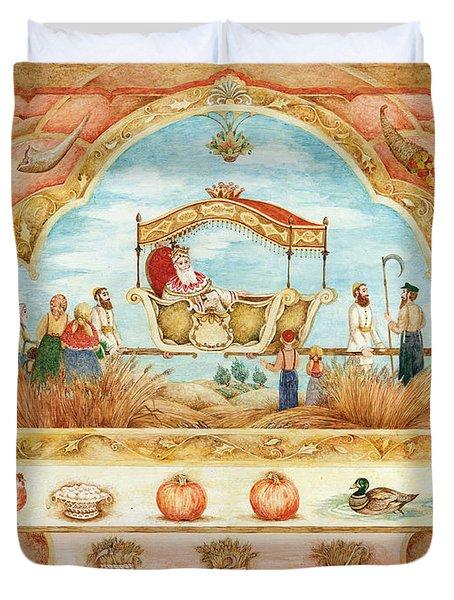 King In The Field Duvet Cover by Michoel Muchnik