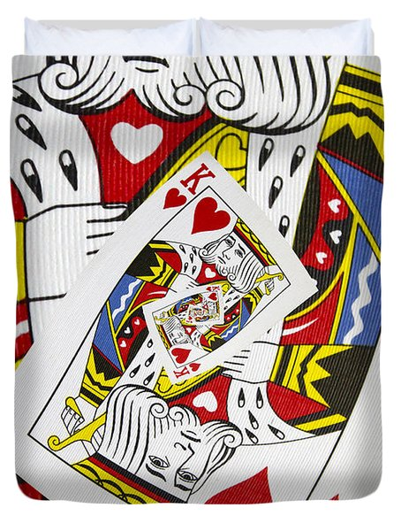King Of Hearts Collage Duvet Cover