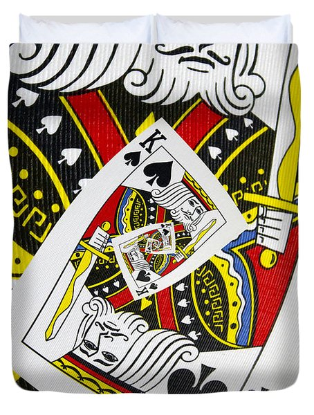 King Of Spades Collage Duvet Cover