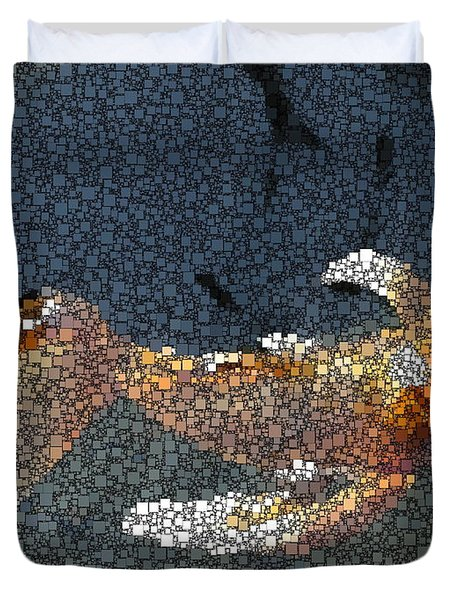 King Of The Pond Duvet Cover by Tim Allen