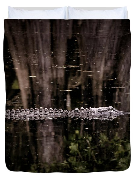 Duvet Cover featuring the photograph King Of The River by Steven Sparks