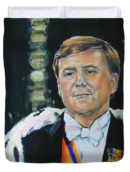 King Willem Alexander Duvet Cover by Lucia Hoogervorst