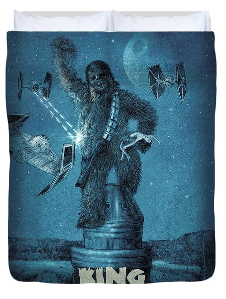 King Wookiee Duvet Cover by Eric Fan
