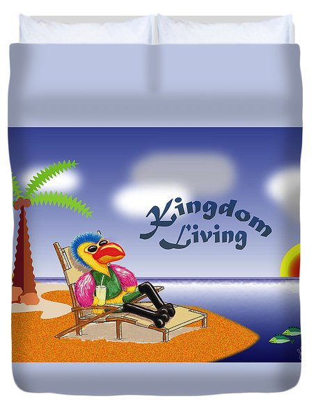 Kingdom Living Duvet Cover by Jerry Ruffin