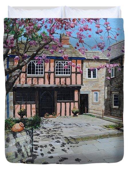 Kings Court, Bakewell, Derbyshire, 2009 Oil On Canvas Duvet Cover