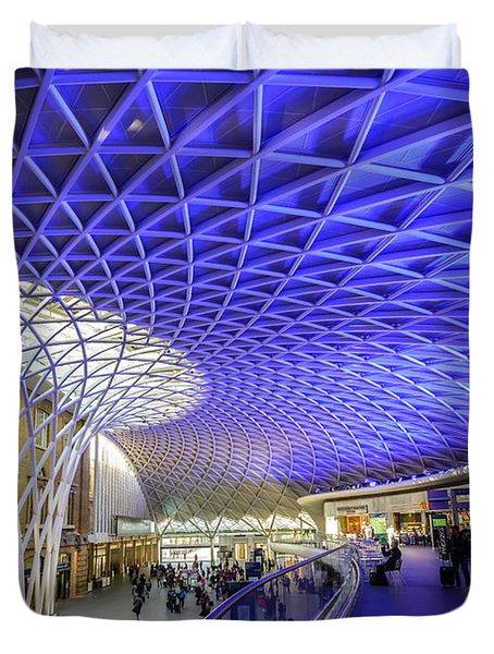 King's Cross Station Duvet Cover by Matt Malloy