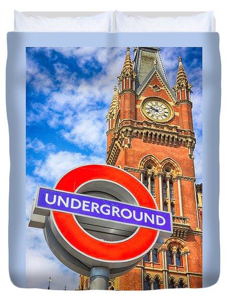 Kings Cross Underground Duvet Cover
