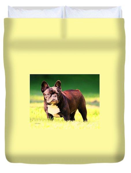 King's Frenchie - French Bulldog Duvet Cover