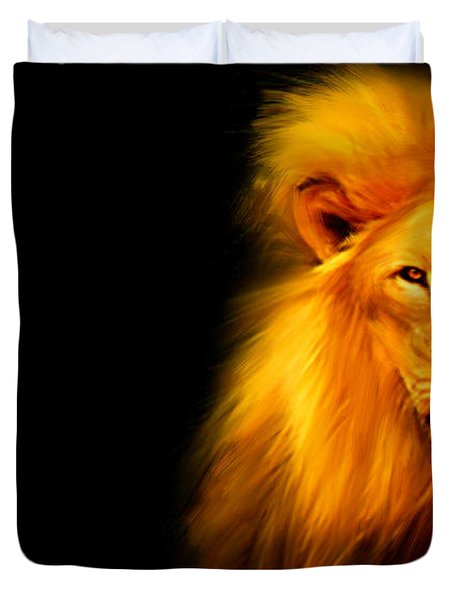 King's Portrait Duvet Cover