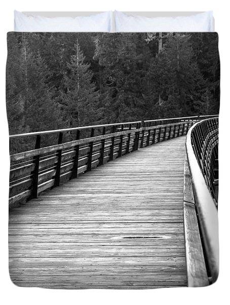 Kinsol Trestle Boardwalk  Duvet Cover
