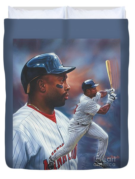 Kirby Puckett Minnesota Twins Duvet Cover