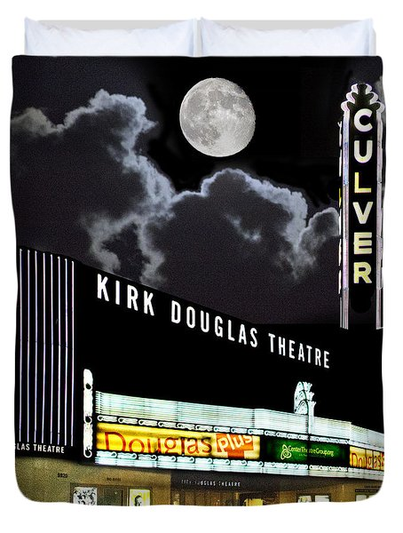 Kirk Douglas Theatre Duvet Cover by Chuck Staley