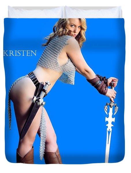 Kirsten Vgirl Pinup Duvet Cover