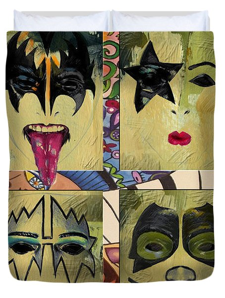 Kiss The Band Duvet Cover by Corporate Art Task Force