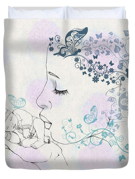 Kiss To A New Born Duvet Cover