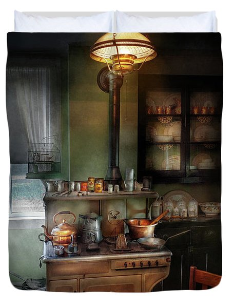 Kitchen - 1908 Kitchen Duvet Cover by Mike Savad