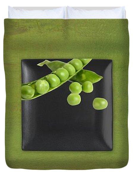 Kitchen Art - Peas - 02t01b Duvet Cover by Aimelle