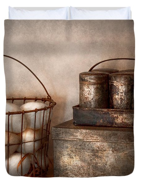 Kitchen - Food - Eggs - Fresh This Morning Duvet Cover by Mike Savad